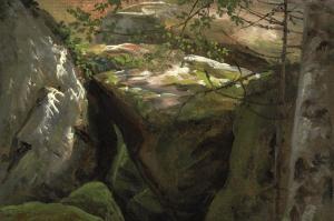 Abb. 1 Erschöpfte Kraft, 1854, Öl auf Leinwand, 63 x 75,5 cm, signiert unten rechts, Österreichische Galerie Belvedere, Wien (Inv. Nr. 3656)