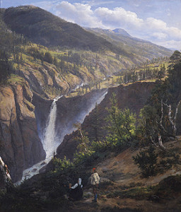 Fig. 2 Johan Christian Clausen Dahl, View of the Rjukan Falls, 1830, oil on canvas, 78 x 69 cm, Oslo, Norsk Hydro
