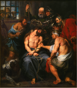 Fig. 2 Sir Anthony van Dyck, Christ Crowned with Thorns, Prado, Madrid.