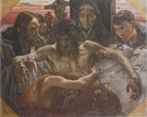 Fig. 1 Lovis Corinth, Descent from the Cross, 1895, oil on canvas, 95 x 120 cm, Cologne, Wallraf-Richartz-Museum, Fondation Corboud, inv. dep. 355.
